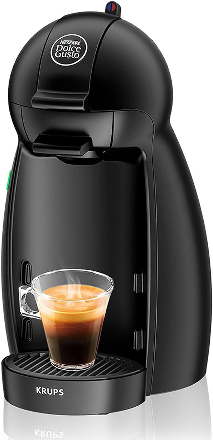 Krups Dolce Gusto Piccolo KP1000 - Cafetera de cápsulas, 15 bares de presión, color negro mate: Amazon.es: Hogar