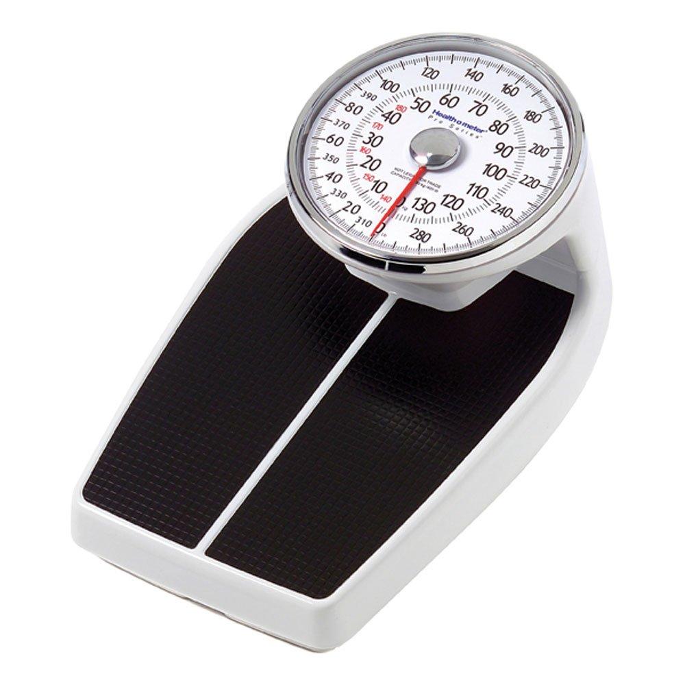 Health O Meter 160KLS Mechanical Floor Scale, 400 lb. Capacity, 12-1/2'' x 11'' x 3'' Platform