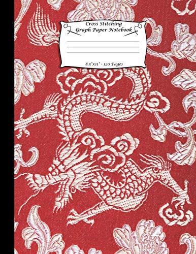 Cross Stitching Graph Paper Notebook: Cross Stitch Pattern Design Notebook Journal. Large Size 8.5
