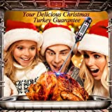 Latest Cooking Thermometers,Patec Digital Instant Read LCD Screen Kitchen Cooking Thermometer Food Thermometer with Long Stainless Probe for Thanksgiving Day,Christmas Turkey,Food,Meat,Candy,Milk,Grill,BBQ