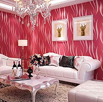 Y-Hui Pure Color Living Room Wallpaper, Tv Background Wall, Flocking ...