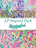 LP Inspired GLITTER HTV Heat Transfer Vinyl Pattern Pack #1 Six Patterns 12x18!