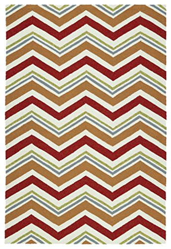 Used, Kaleen Rugs Escape Indoor/Outdoor Rug, Red, 4' x 6' for sale  Delivered anywhere in USA