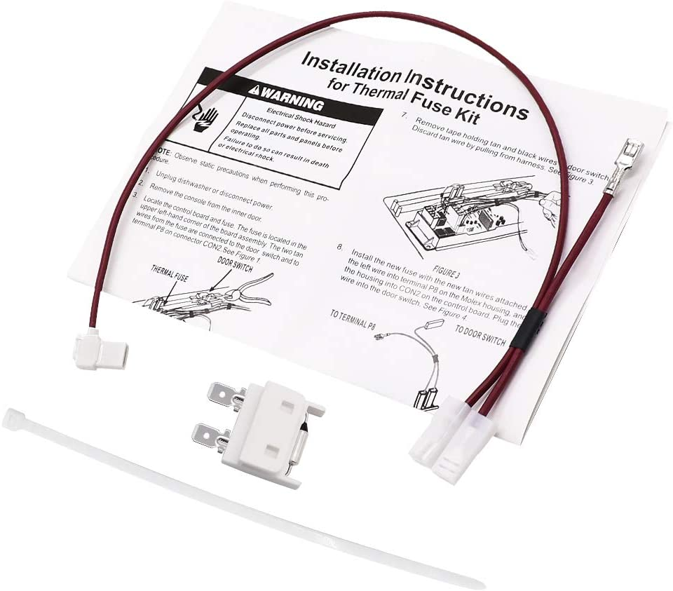 Primeswift 675813 Dishwasher Thermal Fuse Kit,Replacement for Whirlpool Maytag EA382828,PS382828