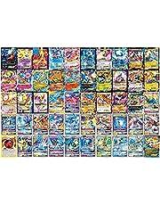 100Pcs Card Set Cartoon Compatibel Voor Pokemon Art Card Set, Speelkaart Kinderen Trading Cards Met 60V (48V + 12Vmax), Diverse Kaarten Rare Kaarten Collectie Cadeau Voor Kids Anime Fans