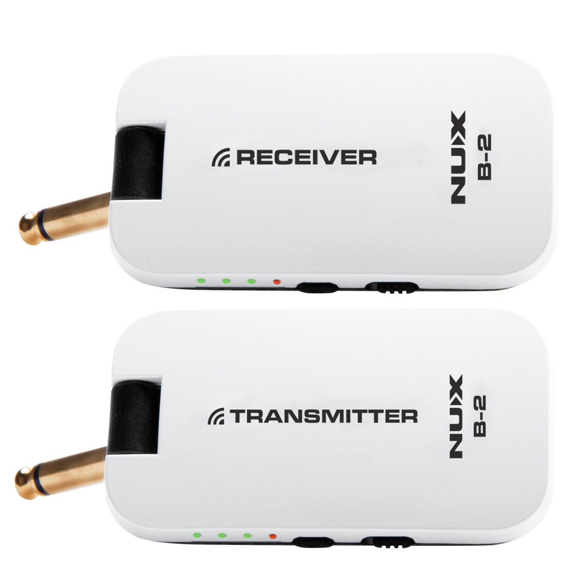 Nux B 2 Wireless Guitar System 24ghz Rechargeable 4 Modify Acoustic Into The Electric On Fm Transmitter Channels Audio Receiver White Musical Instruments