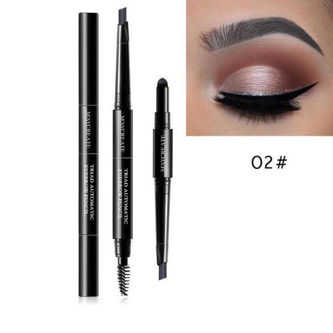 Eyebrow Makeup Kit, Staron 3 In 1 Waterproof Multifunctional Automatic Eyebrow Pencil + Powder + Eyebrow Brush Pigment Beauty Makeup Kit (B)