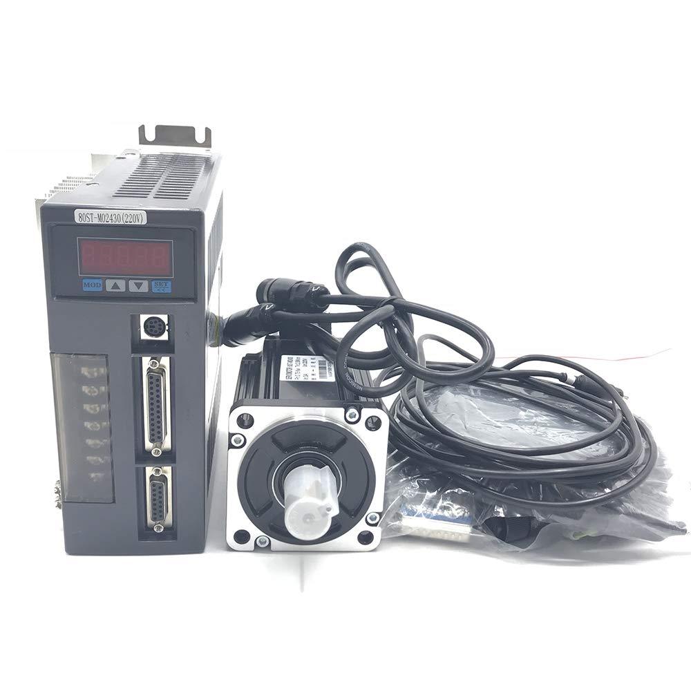 750W 2.4NM AC Servo Motor NEMA34 Servo Driver 90st-m02430 /&3m Cable for CNC Mill