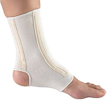 Champion Ankle Brace, Open Heel, Flexible Stays, Knit Elastic, Medium