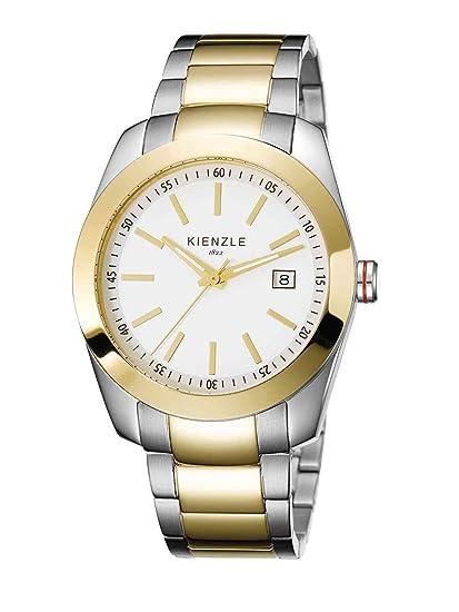 Kienzle K3011101062-00159 - Reloj analógico de cuarzo para hombre con correa de acero inoxidable, color multicolor: Amazon.es: Relojes