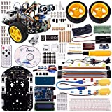 Kuman Arduino Robot Car Kit with Video Toturials,Uno R3 2 Wheels with Bluetooth Module, Line Tracking Module,Ultrasonic Sensor