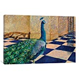 Icanvas My Thai Peacock Gallery Wrapped canvas Art Print by Iris Scott