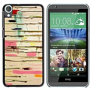 Be Good Phone Accessory // Dura Cáscara cubierta Protectora Caso Carcasa Funda de Protección para HTC Desire 820 // Paint Pink Dripping Abstract Messy Colors