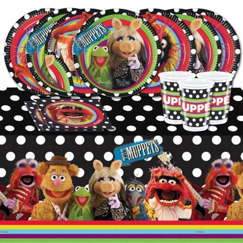(Disney Muppets Kermit Birthday Complete Party Tableware Pack for)