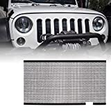 Xprite Black Stainless Steel Mesh Insert for Jeep