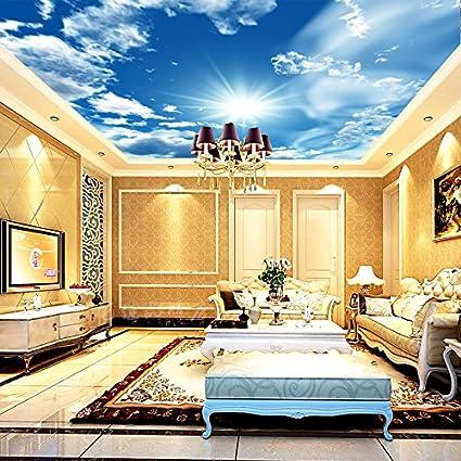 Hotel bar walls ceiling decoration ceiling wallpaper wallpaper 3D ...