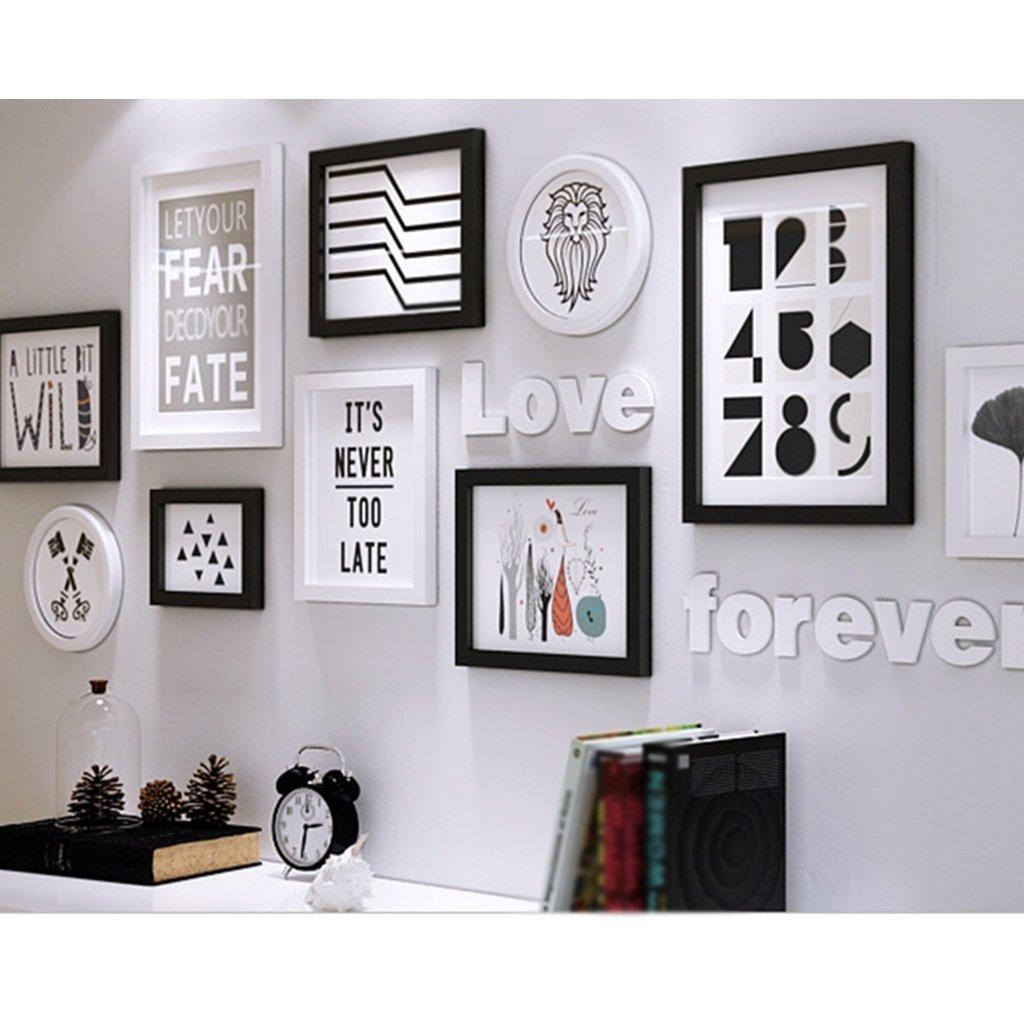 Bilderrahmen Collage Massivholz Kombination Wohnzimmer Rahmen ...