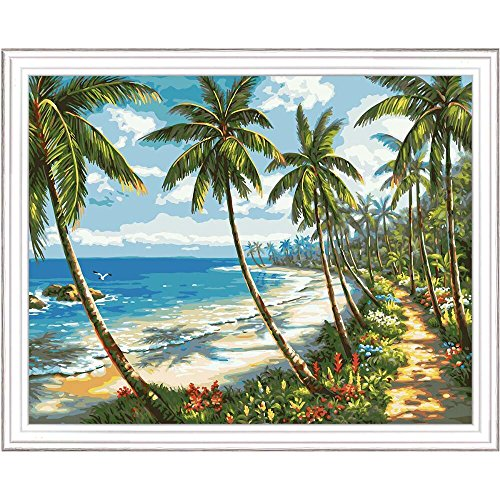 Plaid Creates Paint by Number Kit (16 by 20-Inch), 22719 Tropical Paradise