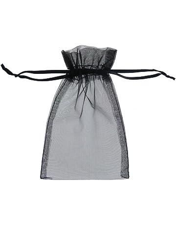 Fushing Bolsas de organza, 7 x 9 cm, 100 unidades, transparentes, para