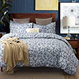 Colourful Snail 100-Percent Cotton Well Designed Classical Floral Pattern Duvet Cover Set, Antique Style, Paisley Medallions, Ultra Soft and Easy Care, Queen/Full