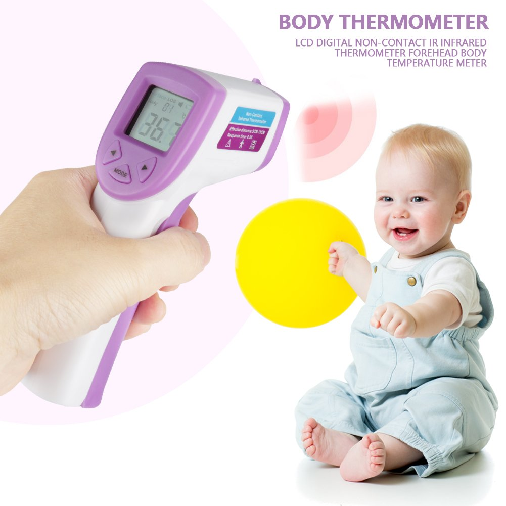 Thermom/ètre Infrarouge Thermom/ètre Num/érique sans Contact /Écran LCD Thermom/ètre Corporel B/éb/é Asixx Thermom/ètre Frontal Enfant Adulte