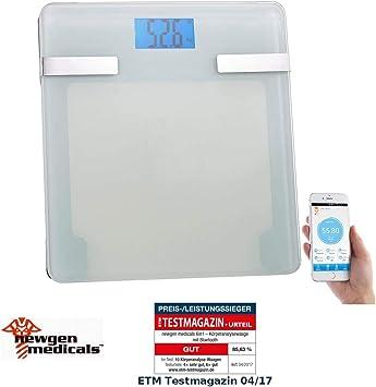 Newgen Medicals - Báscula de baño para iPhone (6 en 1, analizador ...