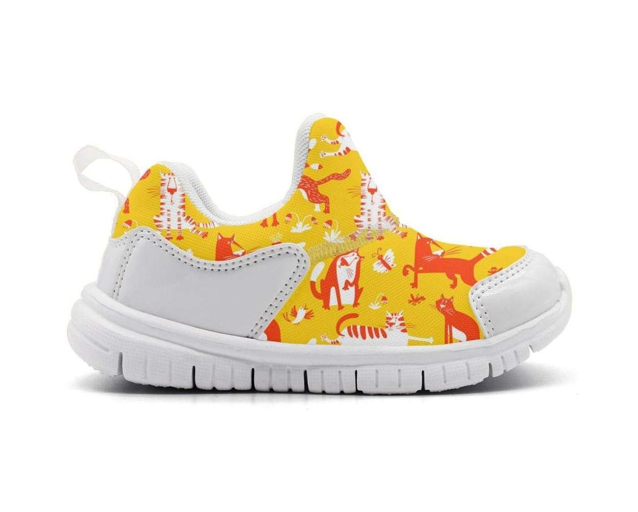 ONEYUAN Children Funny Cats Kid Casual Lightweight Sport Shoes Sneakers Running Shoes