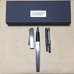 Amazon Lamy ラミー 万年筆 ペン先f 細字 ステュディオ マットステンレス L65 F 両用式 正規輸入品 万年筆 文房具 オフィス用品