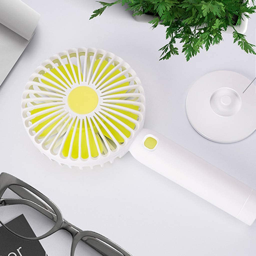 LARNOR New Portable Handheld Fan Mini Size USB Rechargeable Hand Hold Fan Standable Fans 100x66x218mm. Blue, 100x66x218mm