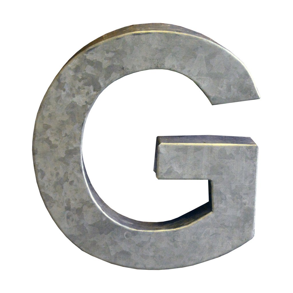 Modelli Creations Alphabet Letter G Wall Decor, Zinc