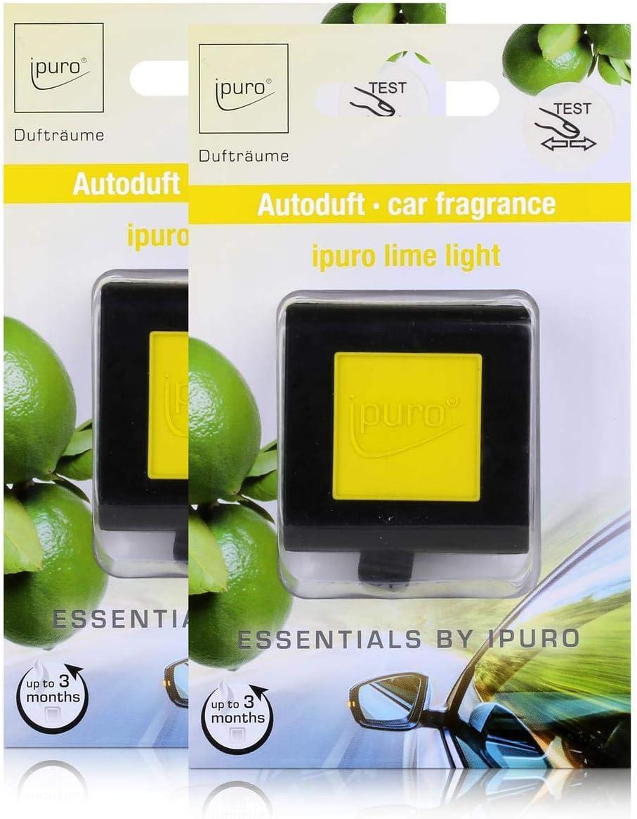 Essentials By Ipuro Car Line Autoduft Lime Light Spritzige Frische Von Zitronengras Kombiniert Mit Sanften Blumigen Akzenten 2er Pack Küche Haushalt