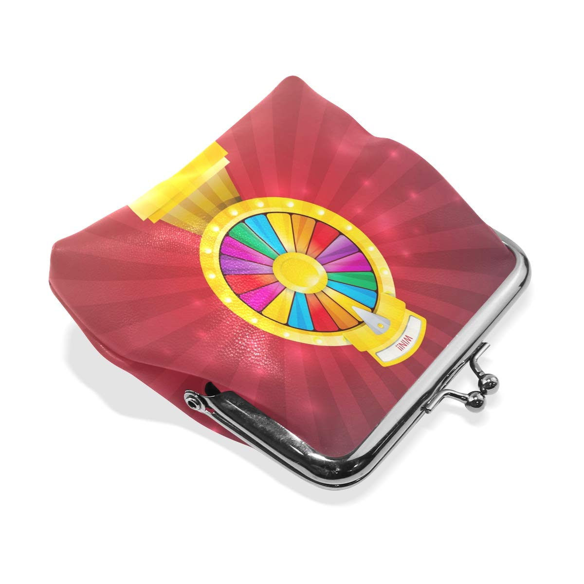 LALATOP Spinning Wheel Fortune Womens Coin Pouch Purse wallet Card Holder Clutch Handbag