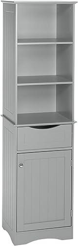 RiverRidge Ashland Collection Tall Cabinet, Gray