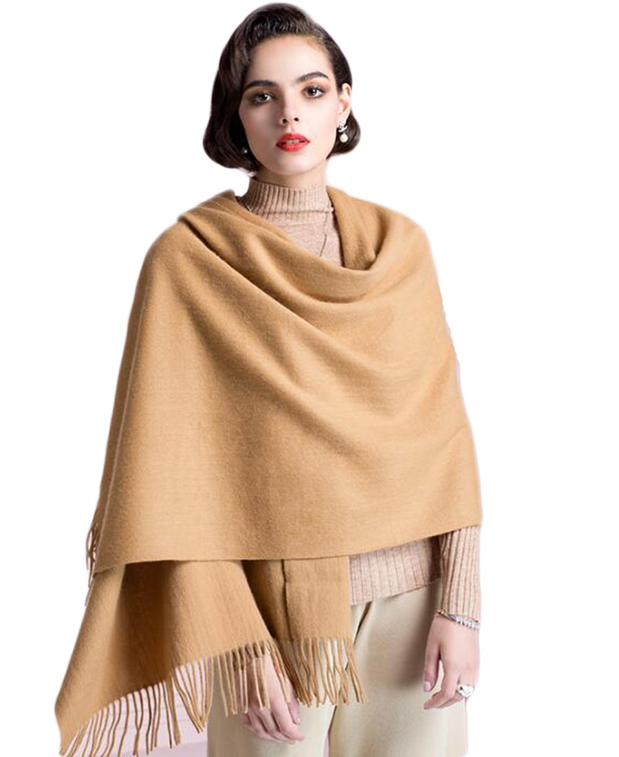 Supplim Cashmere Scarf Soft Wool Wraps Shawls Stole Winter Scaves for Men Women (Pashmina Style, Camel)