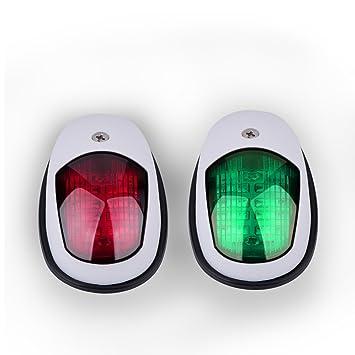 Boots Navigationslicht LED Navigations Lampe gr/ün und rot Marine LED Steuerbord und Port Seitenlicht f/ür Boots Yacht Skeeter DC 12-24V 2PCS Wei/ß