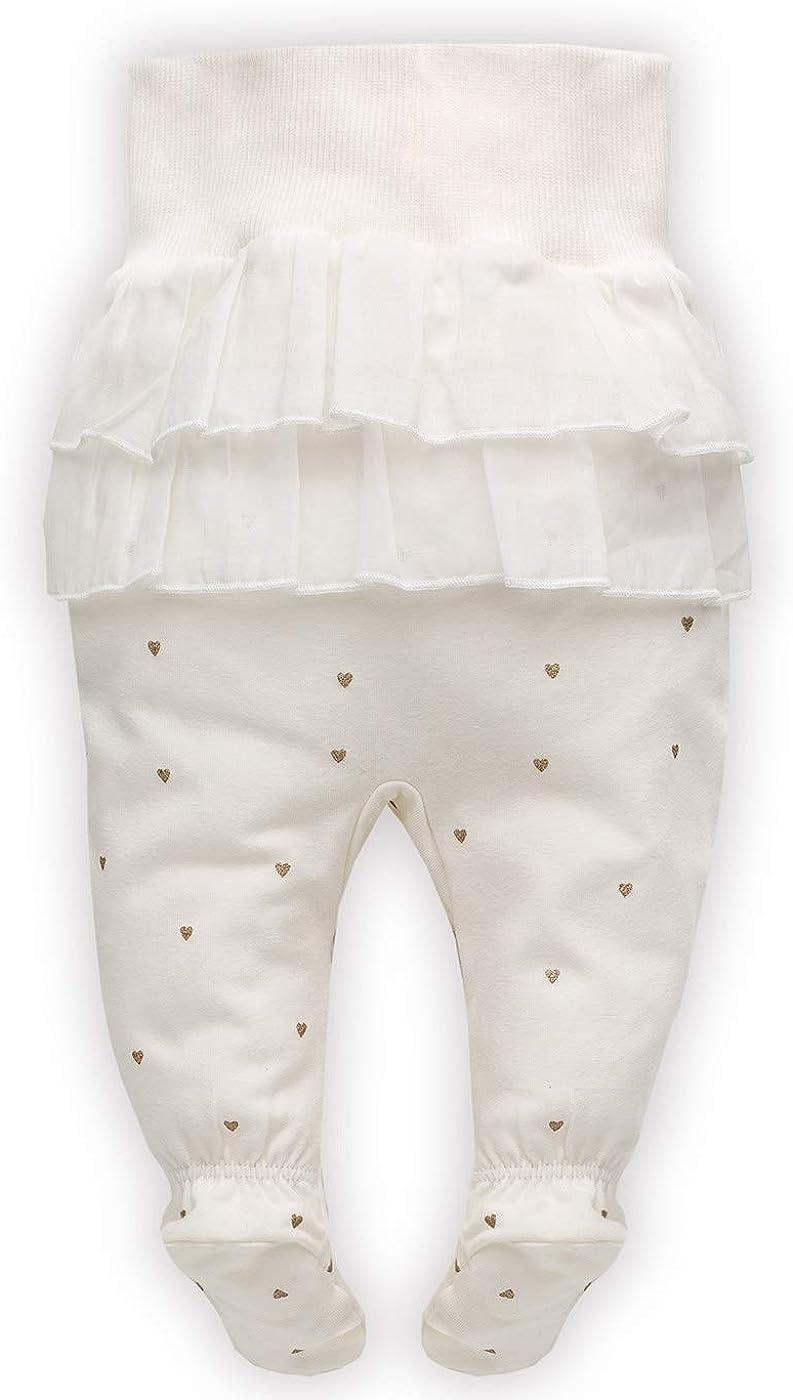 Pinokio Princess B/éb/é Fille Pantalon 95/% Coton /Écru Or /él/égant Barboteuse Newborn avec Ceinture /élastique