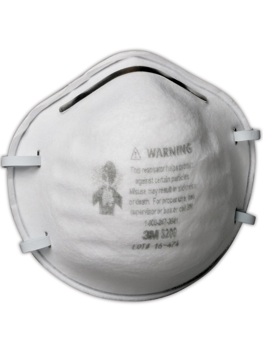 3M 50051131070238 8200 N95 Disposable Particulate Respirator, 20/Dispenser (Pack of 20)