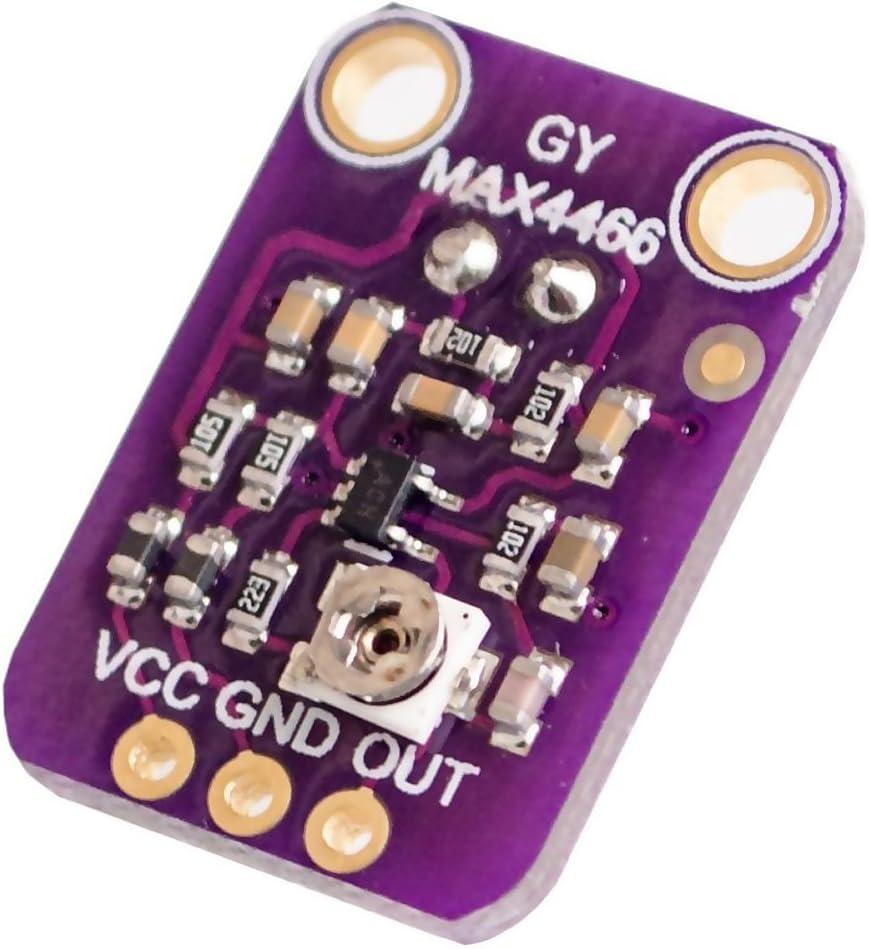 Gazechimp Module Carte Microphone Adjustable Amplifier Capteur Pour Arduino GY-MAX4466