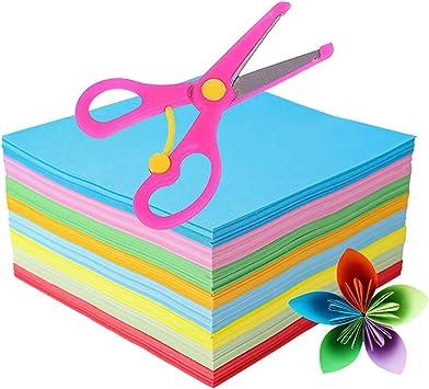 Origami Papier 500 Blatt Quadratisches Papier Fur Faltkran Rose Blumen Flugzeuge Herzen Basteln Dekoration Handarbeitspapier Fur Party Und Geschenke 15 2 X 15 2 Cm Amazon De Kuche Haushalt