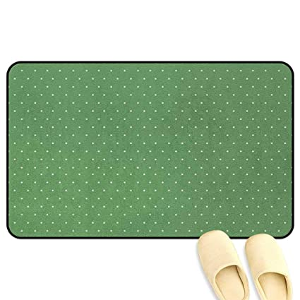 Amazon.com: Green Floor Mat Rug Indoor 50s 60s Style Retro ...