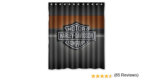 Fashionable Bathroom Collection Custom Harley Davidson Shower Curtain Bath Decor 60 X 72 Amazonca Sports Outdoors