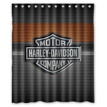 Fashionable Bathroom Collection Custom Harley Davidson Shower Curtain Bath Decor 60 Quot