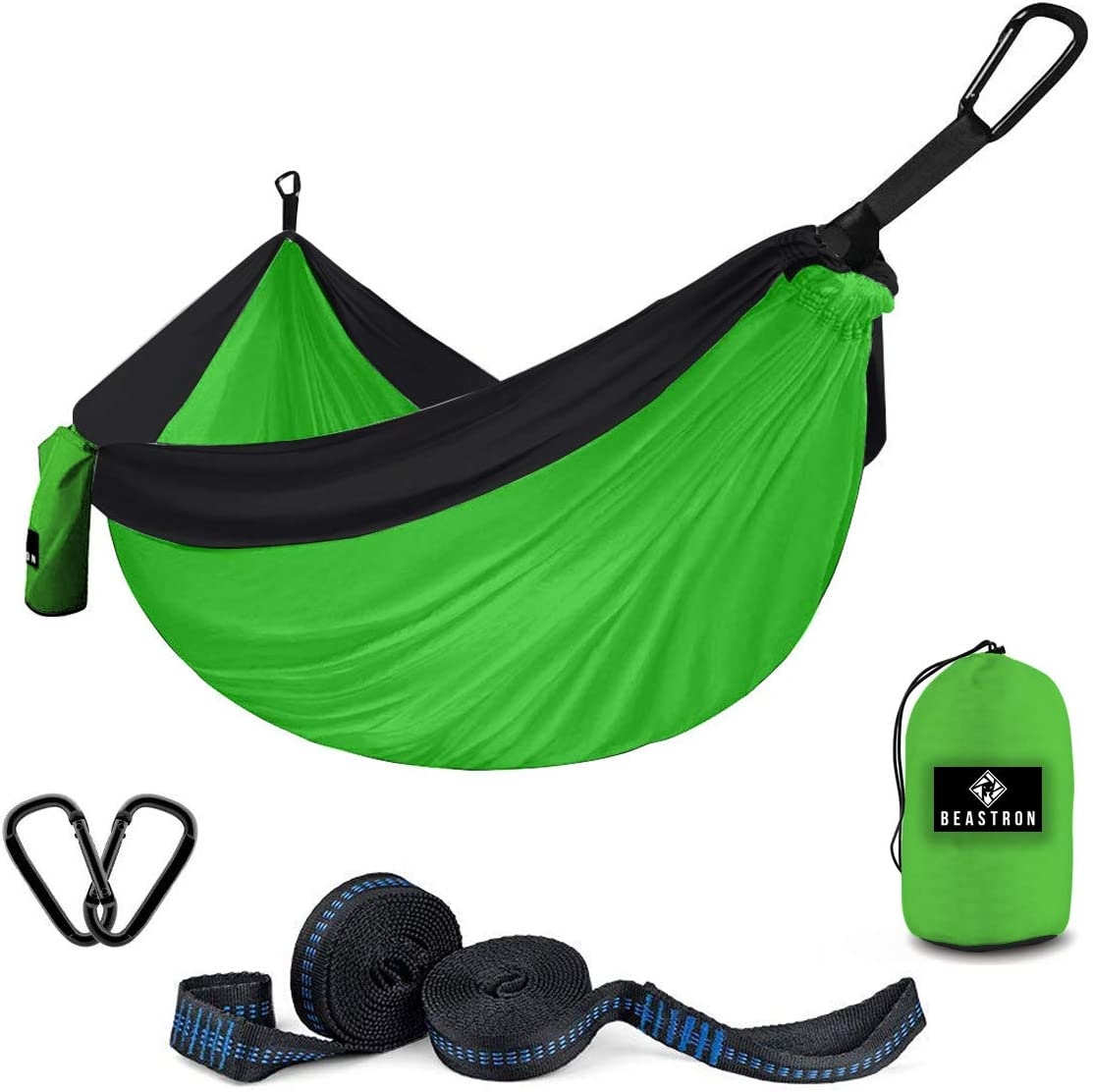 Beastron Camping Hammock Double Hiking Hammock with Tree Straps – Max 600 lb Portable Travel Backpacking Nylon