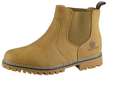 45482f8dca019d Winterschuhe - Boots - mit Gummizug - grobes Profil - camel  Amazon ...