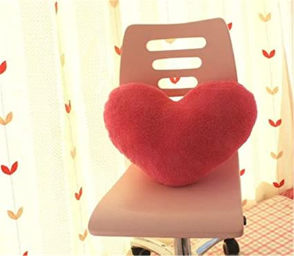 S-SSOY Almohada en forma de corazón, polipropileno, algodón ...