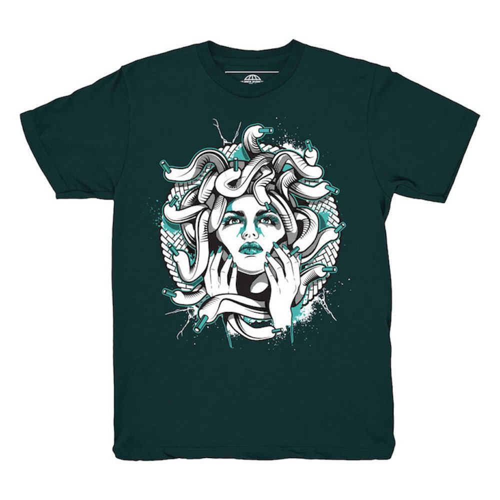 282a1952855569 Amazon.com  Kickset Easter 11 Low Medusa Emerald T-Shirt To Match Jordan 11  Low Easter Sneakers  Clothing
