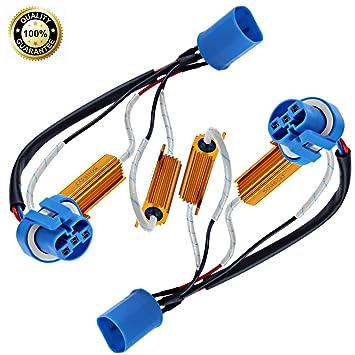 Amazon 9007 LED Load Resistors Wiring Harness Adapter 50W 6Ohm