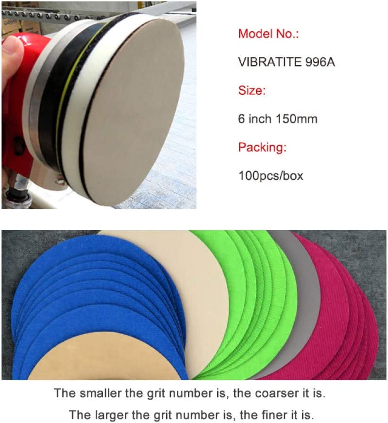 LCDIEB Sandpaper 50PCS 6Inch 150MM Waterproof Sandpaper Hook and Loop Sanding Discs Silicon Carbide 60 to 10000 Grits for Polishing & Grinding,4000 800