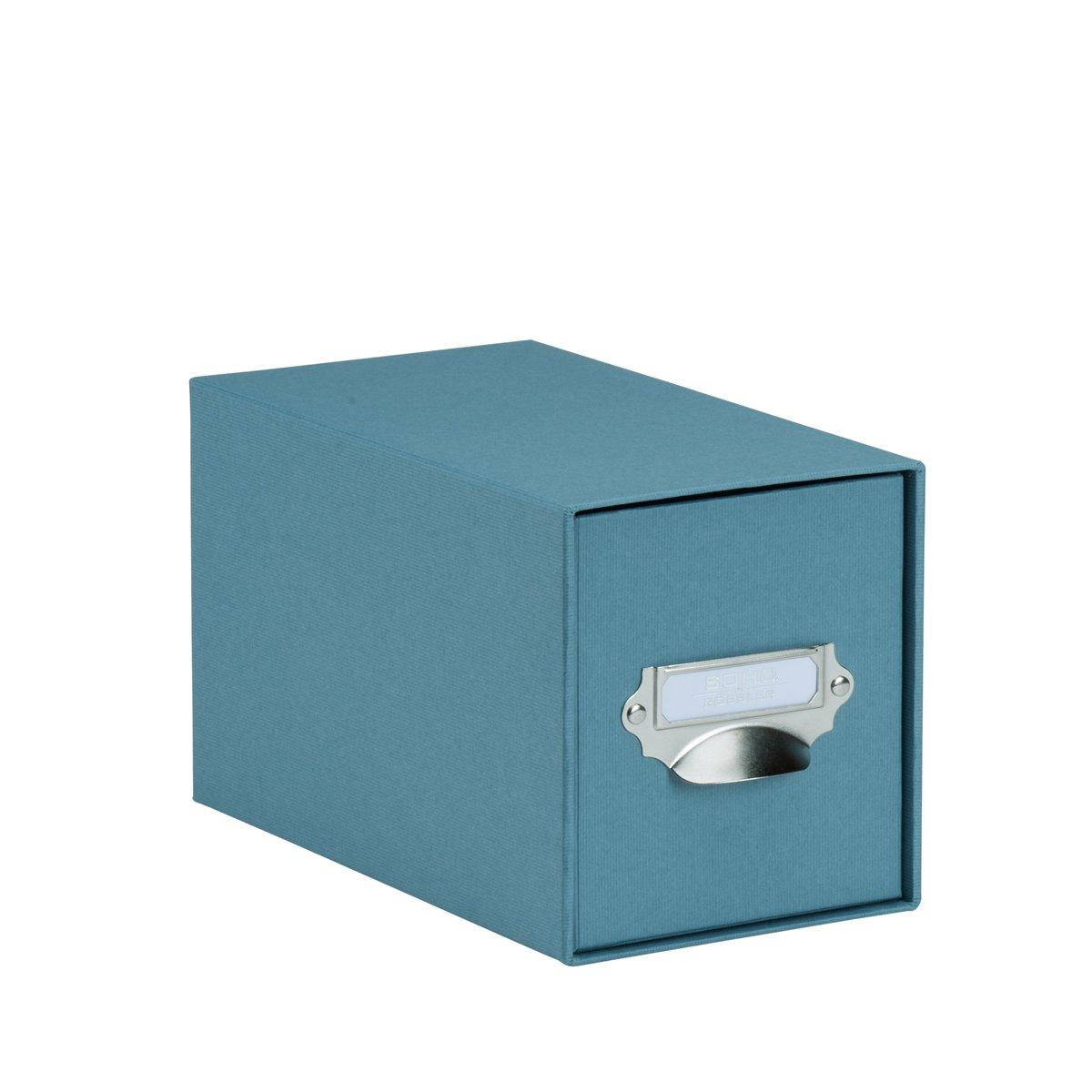 S.O.H.O. 1327452150 Denim CD índice de caja con asa y soporte: Amazon.es: Oficina y papelería