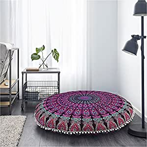 Coj n de piso cover mandala manta rec mara rosa funda de for Decoracion piso hippie